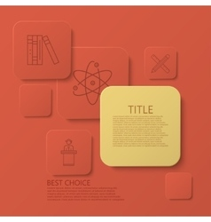 Modern square e-learning coaching vector