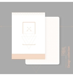 set of modern tribal design cards with vector image vector image