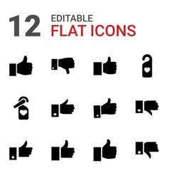 12 like icons vector image