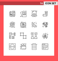 16 thematic outlines and editable symbols of vector