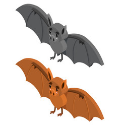 3d design for two bats vector image