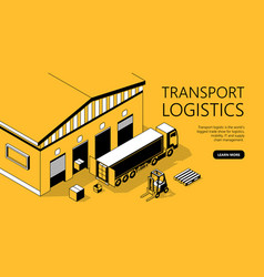 3d isometric site template - transport vector image