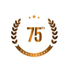 75 th anniversary template design vector