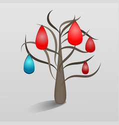 a fantastic tree with jewels vector image