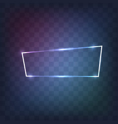 abstract neon frame vector image