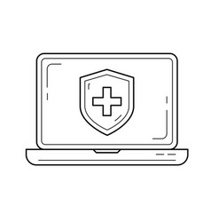 Antivirus line icon vector