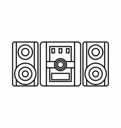 Audio system music center icon outline style vector image