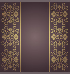 Background vintage baroque with flowers vector