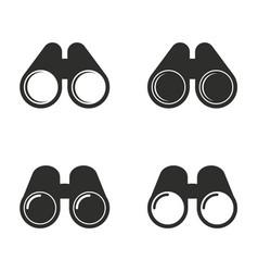 binocular icon set vector image