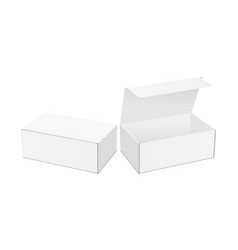 blank packaging boxes mockups opened and closed vector image