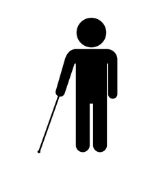 Blind disabled icon vector