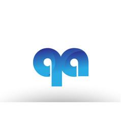 Blue gradient qa q a alphabet letter logo vector