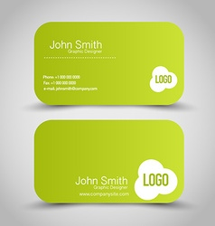 Business card set template Green color vector