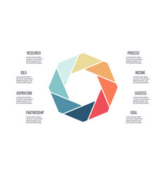 Business infographics octagon chart with 8 steps vector