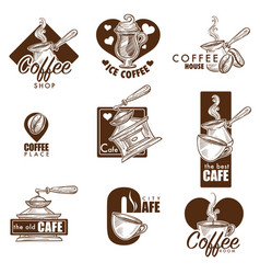 Cafe or coffee house sketch icons vector