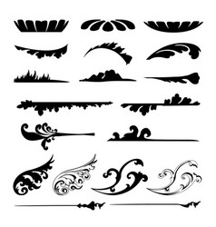 calligraphic element design vector image