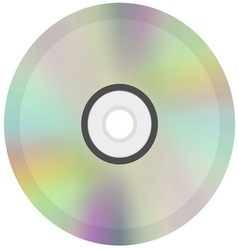 CD or DVD disc icon vector