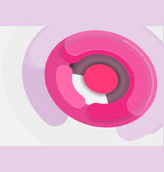 circle shapes pink colors vector image
