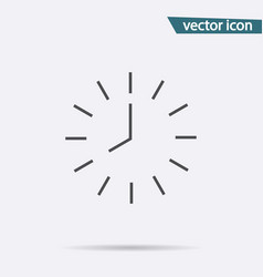 Clock icon isolated on background modern simple f vector