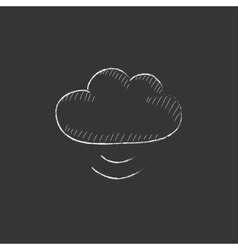 Cloud computing Drawn in chalk icon vector