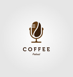 coffee podcast radio logo icon design vector image