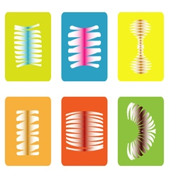 color icon set with springs vector image