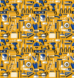Color seamless pattern of building tools flat vector