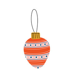 Colorful bauble ball christmas tree toy new year vector