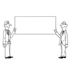 comic cartoon two men or businessmen in suit vector image
