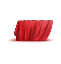 Covering drape red curtain or cloth realistic vector