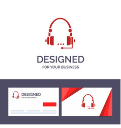 creative business card and logo template support vector image