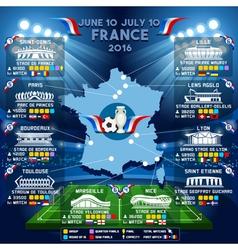 Cup EURO 2016 Stadium Guide vector