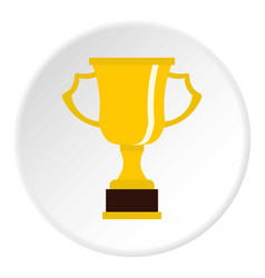 Cup for win icon circle vector