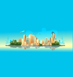 day city landscape vector image