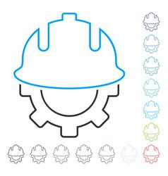 development helmet contour icon vector image