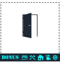 Door icon flat vector image