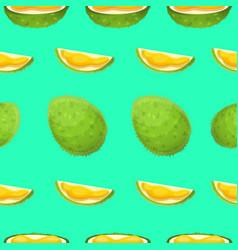 Durian fruit pattern cartoon style vector