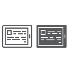 e reading line and glyph icon e learning vector image