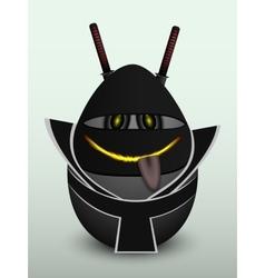Egg black ninja mask vector image