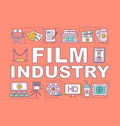 film industry word concepts banner show business vector image