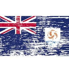 Flag of Anguilla with old texture vector image