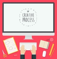 Flat design concept web Creative Process trendy vector image