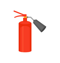 flat icon of bright red fire extinguisher vector image
