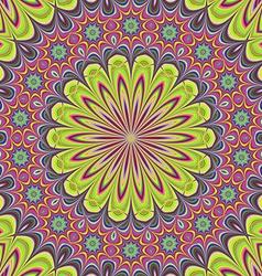 Floral mandala design background vector