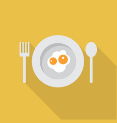 fried egg icon set of great flat icons design vector image