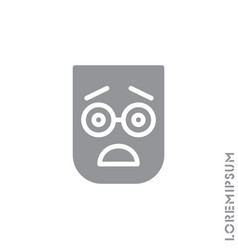 Frowning with open mouth emoji icon vector