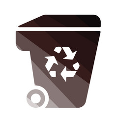 garbage container recycle sign icon vector image
