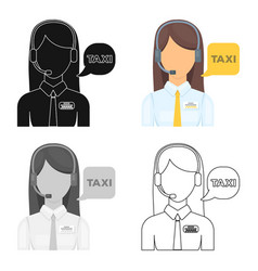 girl in a white shirt with headphonescall centre vector image
