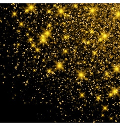 Gold Glitter Dust Texture Sparkling background vector image