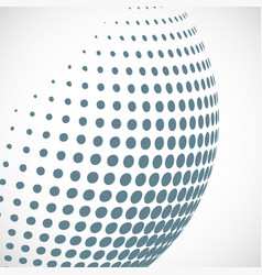 halftone sphere design element vector image
